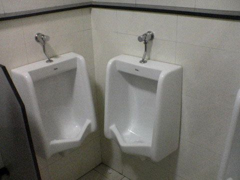 Double urinals mistake