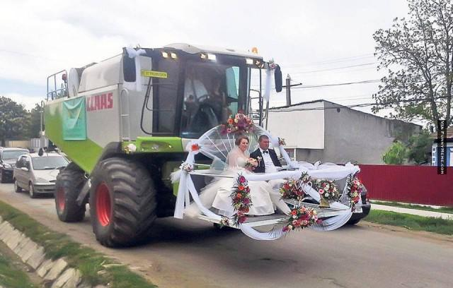 Original wedding transportation