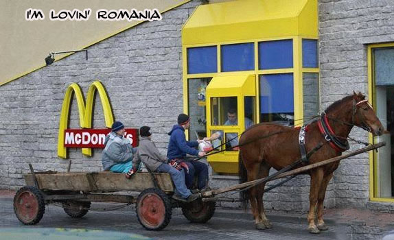 Romanian McDonald's drive thru