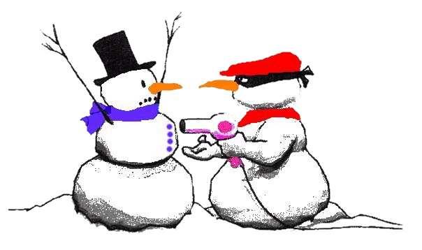 Snowman mugging